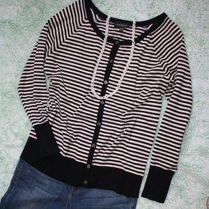 Lane Bryant Pink & Black Shimmer Cardigan